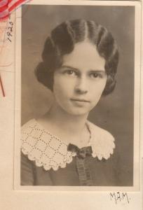 Miriam in 1922