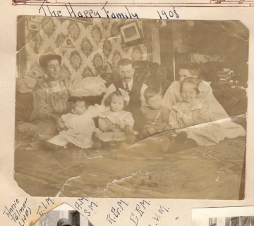 Ronald and Grace and family in 1908
