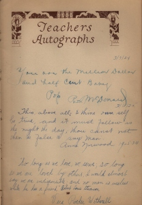 R.S. McDonald comments, her father