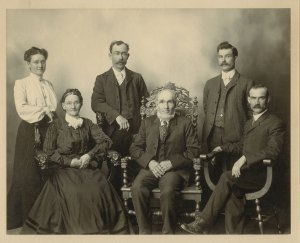 The McDonell's of Chichester, taken in Bemidji, MN 1905